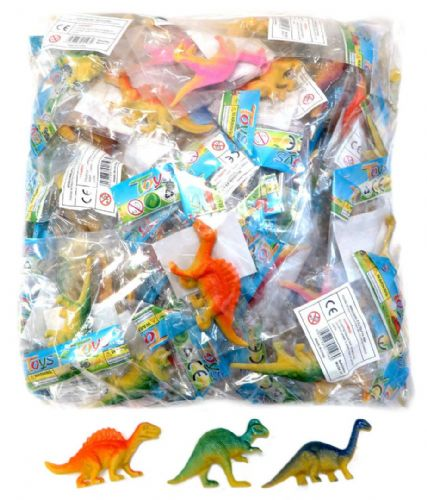 100 x Mini Dinosaur in Bag ~ 6-9cm